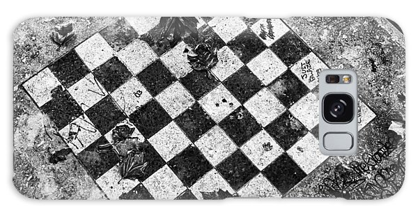 Chess Table In Rain Galaxy Case by Dave Beckerman