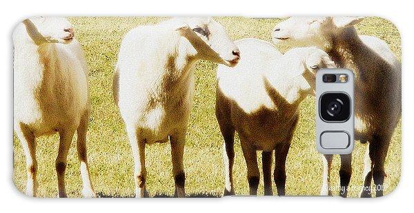 Cheviot Sheep Galaxy Case by Kathy Barney