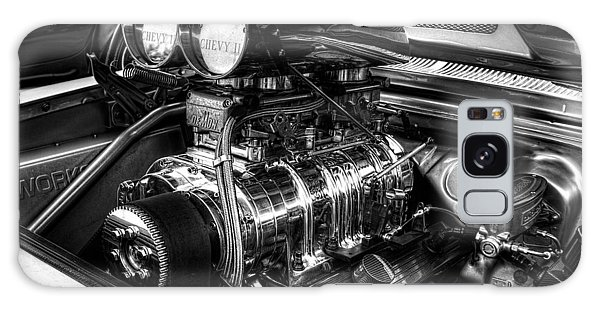 Chevy Supercharger Motor Black And White Galaxy Case