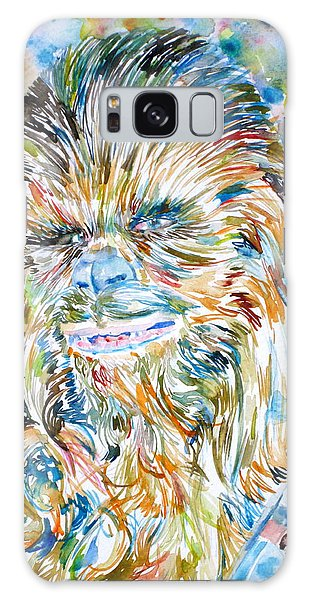 Chewbacca Watercolor Portrait Galaxy Case