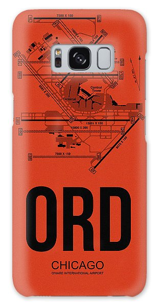 Chicago Airport Poster 1 Galaxy Case by Naxart Studio