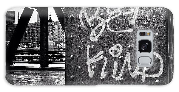 City Galaxy Case - Be Kind Graffiti On A Chicago Bridge by Paul Velgos