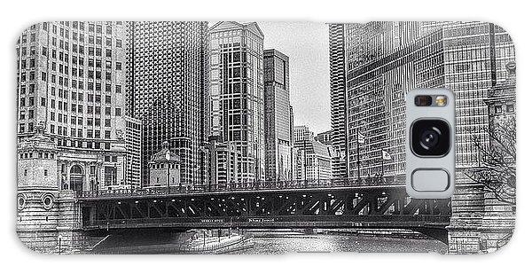 City Galaxy Case - #chicago #blackandwhite #urban by Paul Velgos