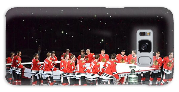 Chicago Blackhawks And The Banner Galaxy Case by Melissa Goodrich