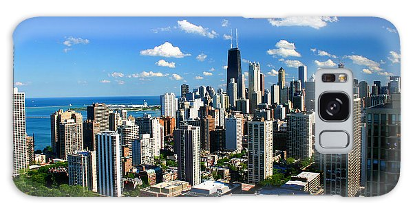 Chicago Buildings Skyline Clouds Galaxy Case