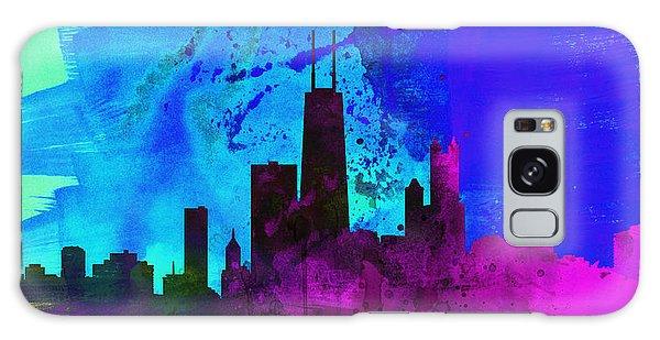 Chicago City Skyline Galaxy Case by Naxart Studio