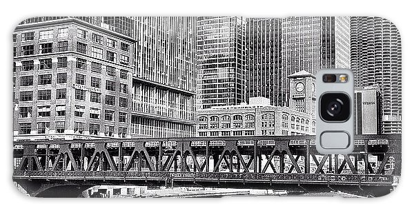 Wells Street Bridge Chicago Hdr Photo Galaxy Case