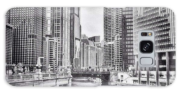 City Galaxy Case - #chicago #cityscape #chicagoriver by Paul Velgos