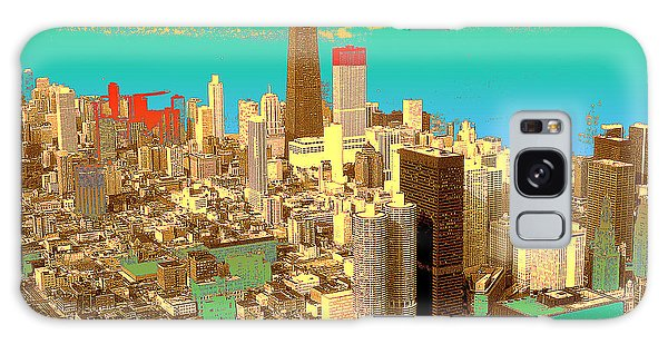 Chicago Pop Art In Blue Green Red Yellow Galaxy Case