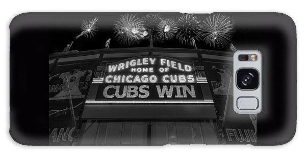 Fireworks Galaxy Case - Chicago Cubs Win Fireworks Night B W by Steve Gadomski