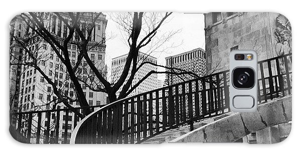 Chicago Staircase Black And White Picture Galaxy Case