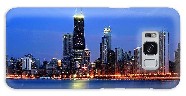 Chicago Dusk Skyline Hancock Galaxy Case