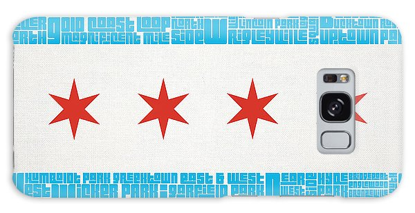 Chicago Flag Neighborhoods Galaxy Case