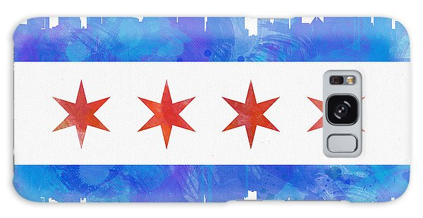 Patriotic Galaxy Case - Chicago Flag Watercolor by Mike Maher