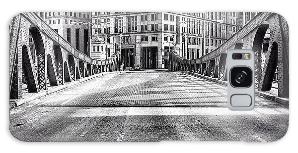 #chicago #hdr #bridge #blackandwhite Galaxy Case by Paul Velgos