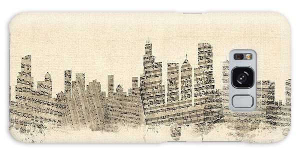 Grant Park Galaxy Case - Chicago Illinois Skyline Sheet Music Cityscape by Michael Tompsett