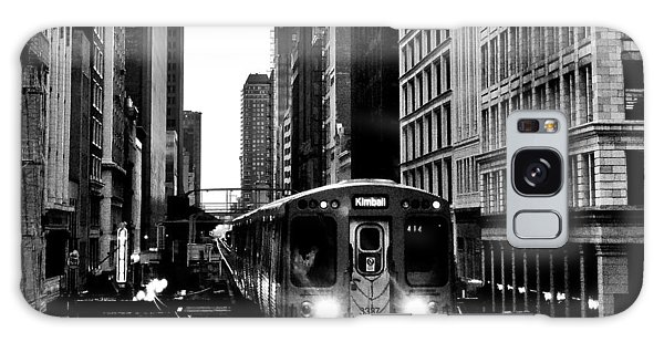 Chicago L Black And White Galaxy Case