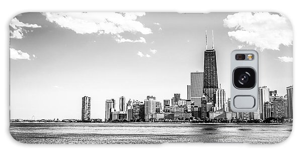 Chicago Lakefront Skyline Black And White Picture Galaxy Case