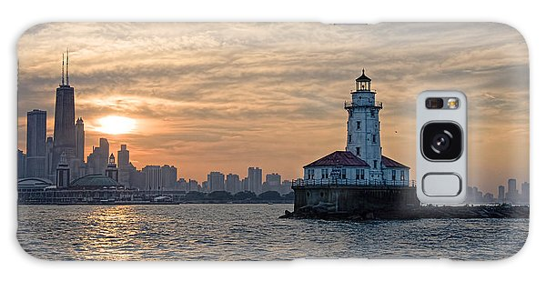 Chicago Lighthouse And Skyline Galaxy Case by John Hansen