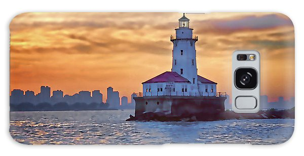 Chicago Lighthouse Impression Galaxy Case by John Hansen