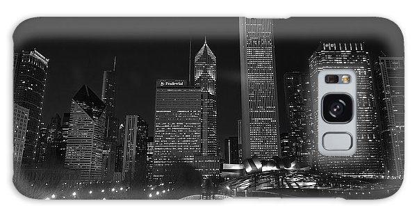 Art Institute Galaxy S8 Case - Chicago Lights B W by Steve Gadomski