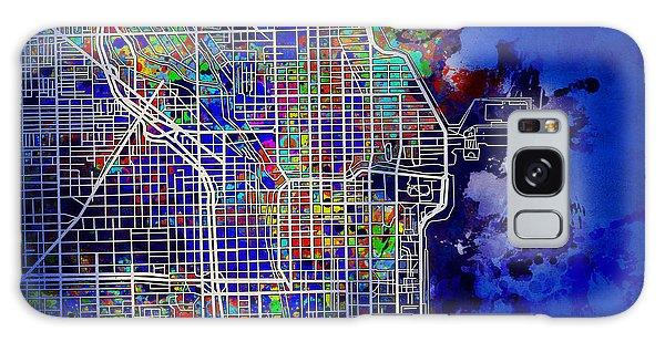 Vintage Chicago Galaxy Case - Chicago Map Blue Version by Bekim M
