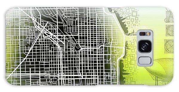 Vintage Chicago Galaxy Case - Chicago Map Gradient by Bekim M