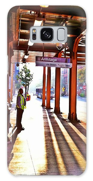 Chicago Morning @ The Brown Line Armitage Galaxy Case by Eleanor Abramson