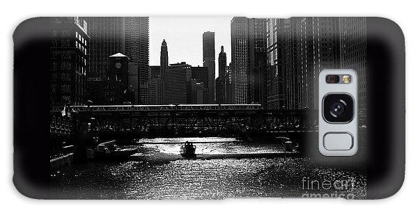 Chicago Morning Commute - Monochrome Galaxy Case