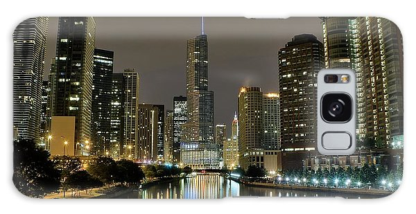 Chicago Art Galaxy Case - Chicago Night River View by Frozen in Time Fine Art Photography