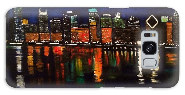 Chicago Night Skyline Galaxy Case