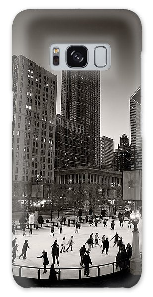 Cultural Center Galaxy Case - Chicago Park Skate Bw by Steve Gadomski