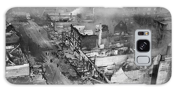 Martin Luther Galaxy Case - Chicago Race Riot Burning by Underwood Archives