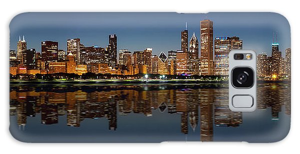 Chicago Reflected Galaxy Case by Semmick Photo