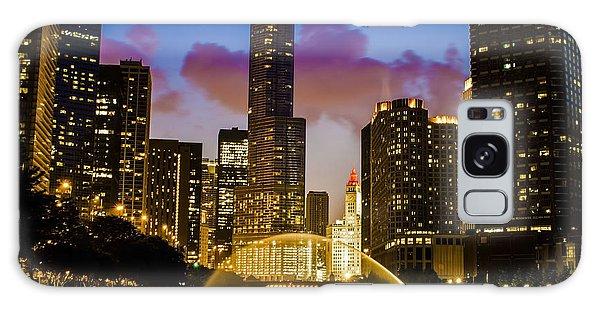 Chicago River Dusk Scene Galaxy Case