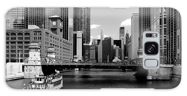 Chicago River Skyline Bridge Boat Galaxy Case