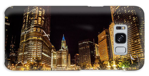 Chicago Riverwalk Galaxy Case by Melinda Ledsome