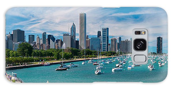 Angle Galaxy Case - Chicago Skyline Daytime Panoramic by Adam Romanowicz
