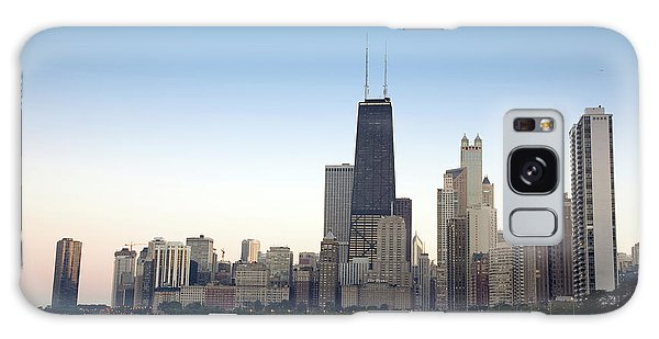 Chicago Skyline And Lake Galaxy Case by Linda Matlow