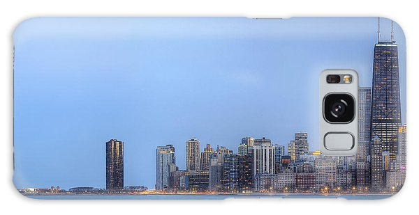 Chicago Skyline And Navy Pier Galaxy Case by Shawn Everhart