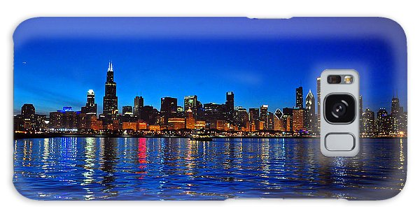 Galaxy Case featuring the photograph Chicago Skyline At Dusk by Matthew Chapman