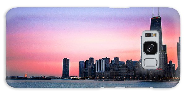Chicago Skyline At Lake Michigan Galaxy Case