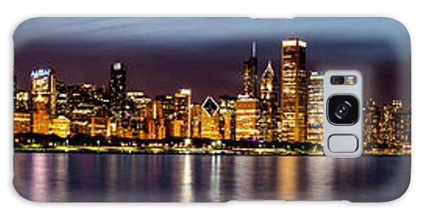 Chicago Skyline At Night Panoramic Galaxy Case