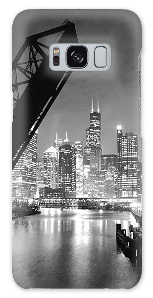 Chicago Skyline - Black And White Sears Tower Galaxy Case