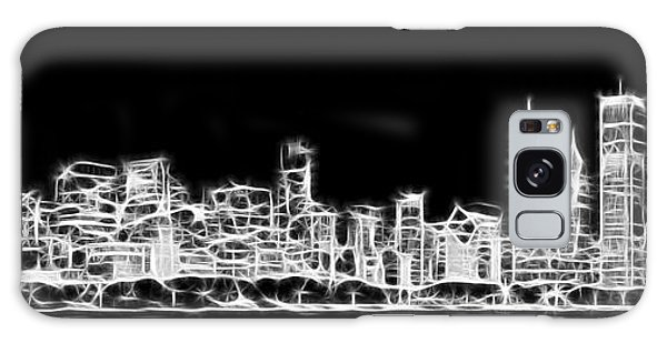 Chicago Art Galaxy Case - Chicago Skyline Fractal Black And White by Adam Romanowicz