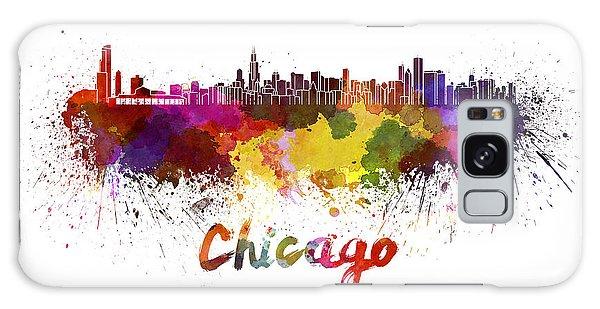 Vintage Chicago Galaxy Case - Chicago Skyline In Watercolor by Pablo Romero
