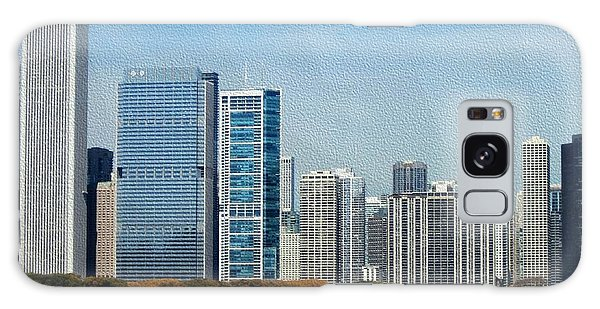 Chicago Skyline Galaxy Case by Kathie Chicoine