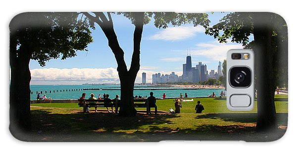 Chicago Skyline Lakefront Park Galaxy Case