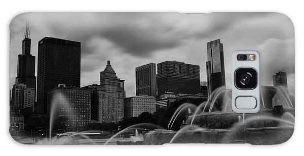 Chicago City Skyline Galaxy Case by Miguel Winterpacht