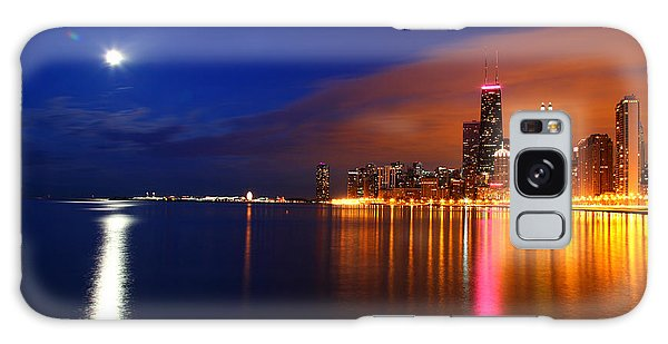 Chicago Skyline Moonlight Galaxy Case